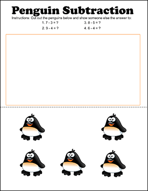 fun subtraction worksheet for kindergarten