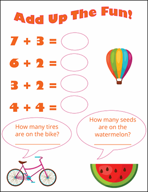 add up the fun addition worksheet