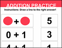 addition practice worksheet for kindergarteners
