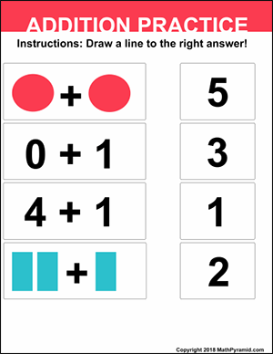 addition practice for numbers 0 – 5