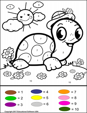 color by number worksheet number 10