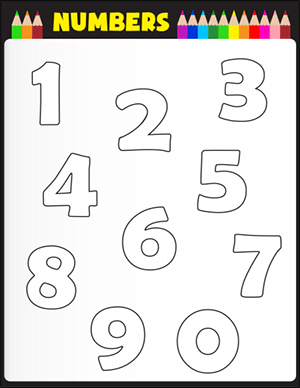 color the numbers one through ten math worksheet