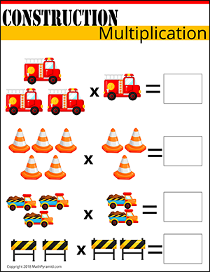free multiplication worksheet construction