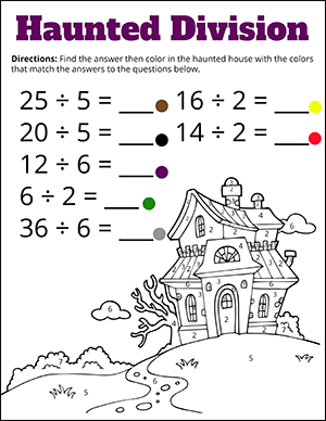 Free Halloween Math Worksheets | Math Worksheets