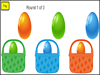 easter math game sort by colors