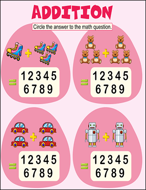 gumdrop addition worksheet for kindergarteners