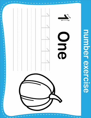 number one writing practice worksheet