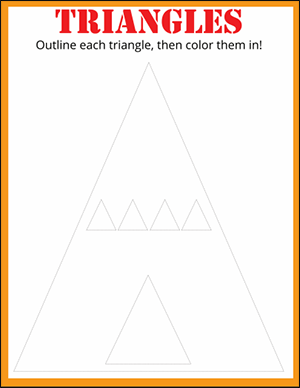 practice drawing triangles worksheet