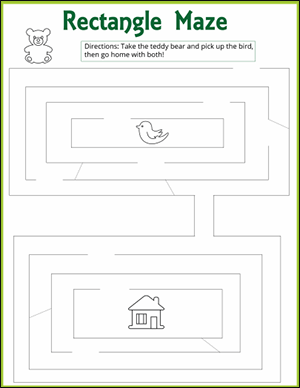 rectangle maze worksheet