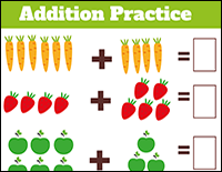 addition practice for kindergarten students